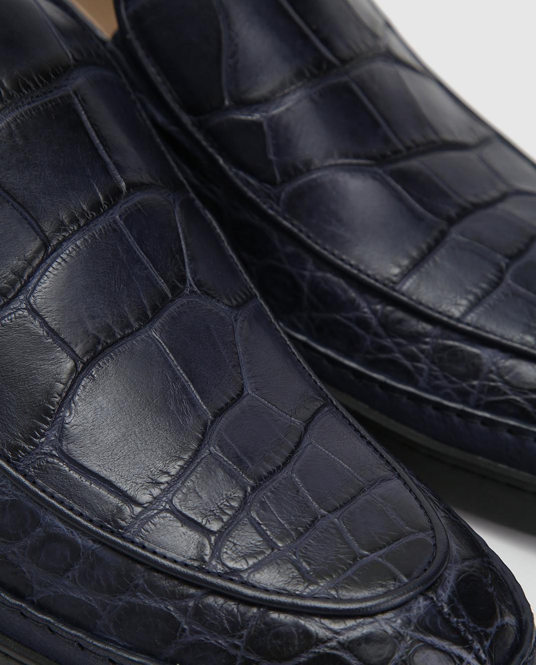 Del Dami Синие туфли из кожи аллигатора изображение 5