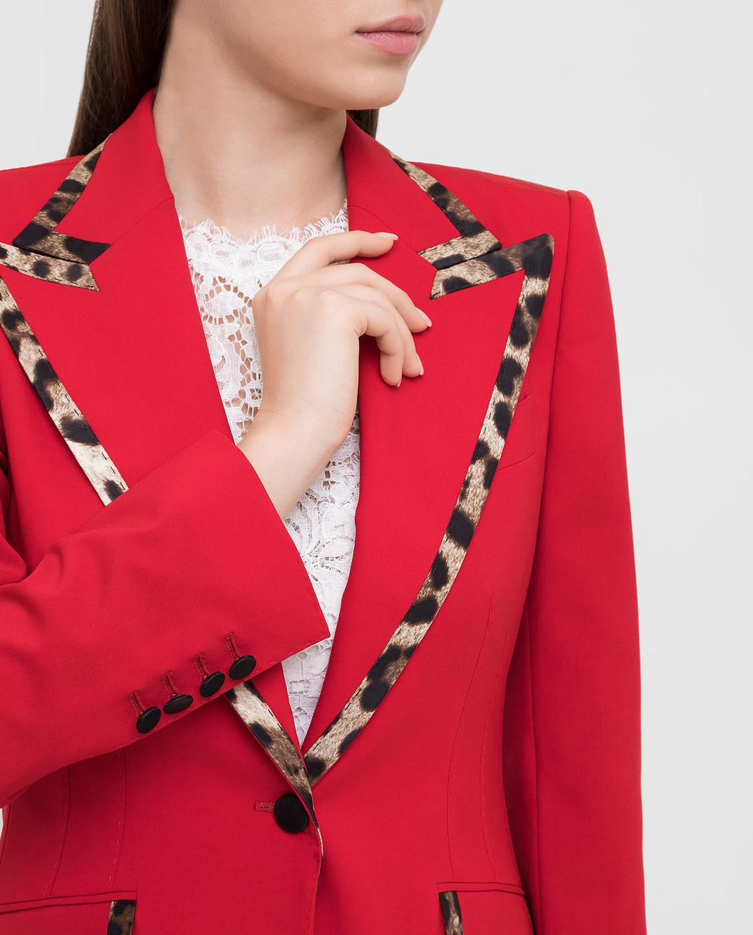 Dolce&Gabbana Красный жакет из шерсти изображение 5