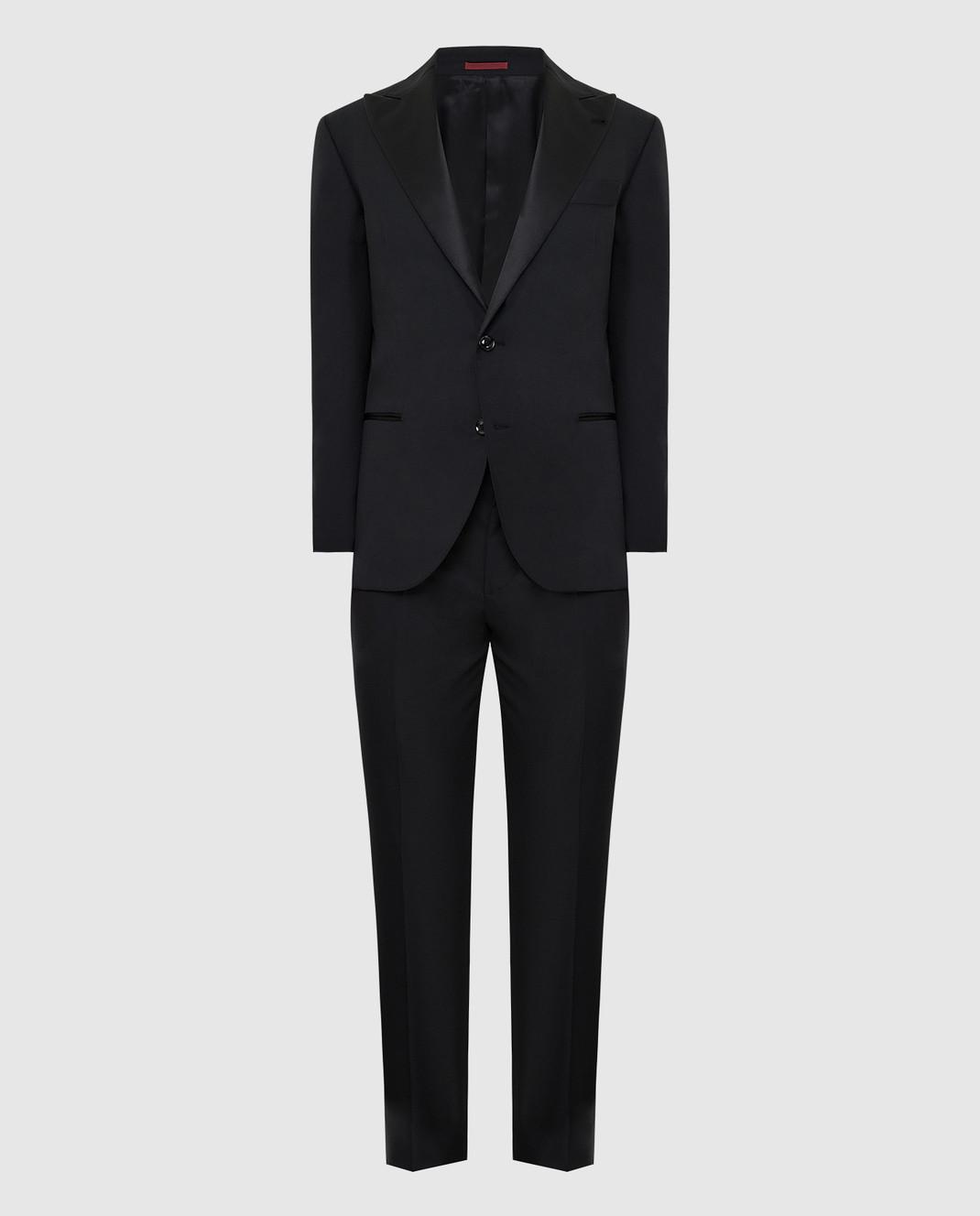Brunello Cucinelli Черный костюм из шерсти и шелка изображение 1