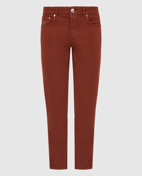 Терракотовые джинсы