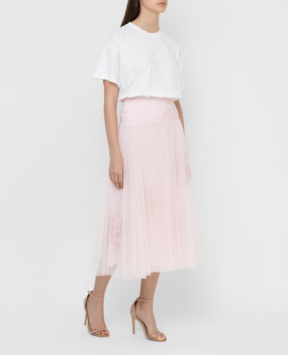 Розовая юбка с кристаллами hover