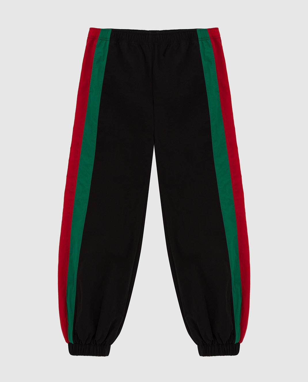 Gucci Детские черные спортивные брюки 600167XWAGV