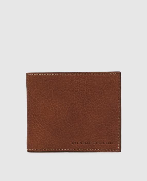 Коричневый кожаный кошелек