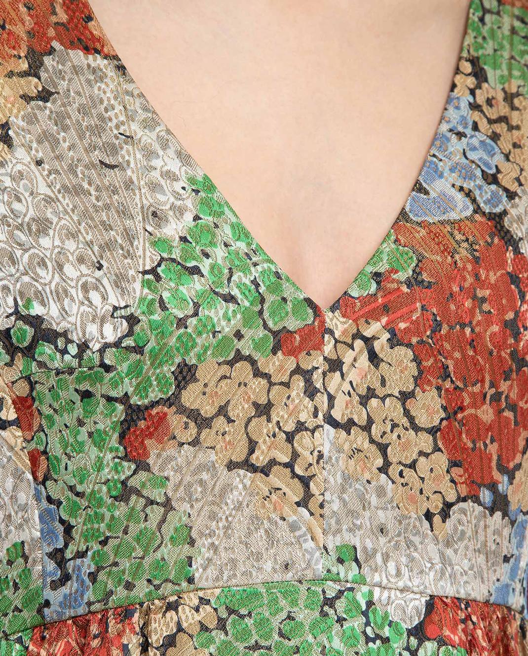 Vilshenko Бежевое платье 4335LSFLOWER изображение 5