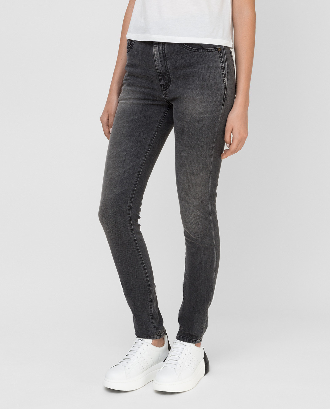 Saint Laurent Серые джинсы изображение 3