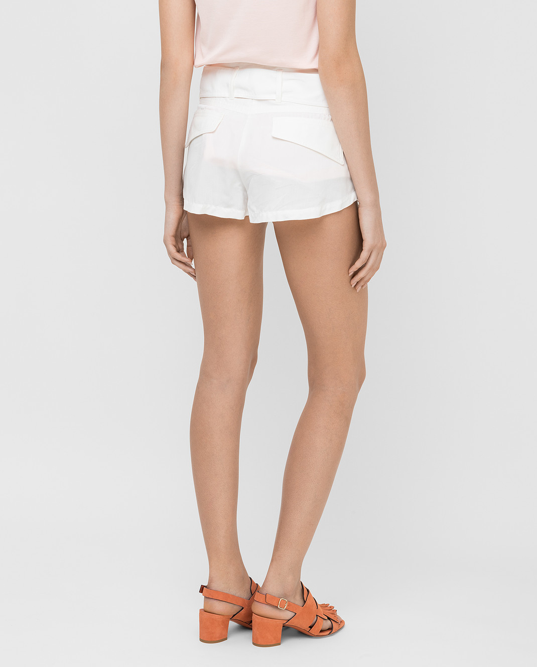 Roberto Cavalli Белые шорты CQR232 изображение 4