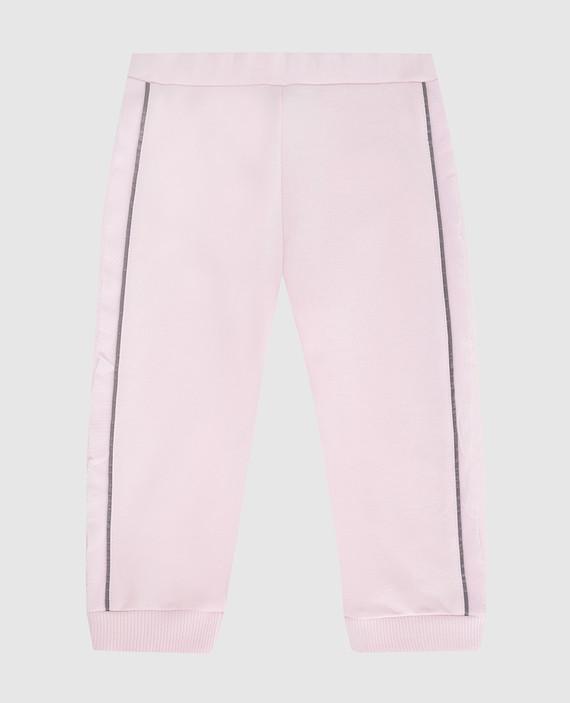 Детские розовые спортивные брюки