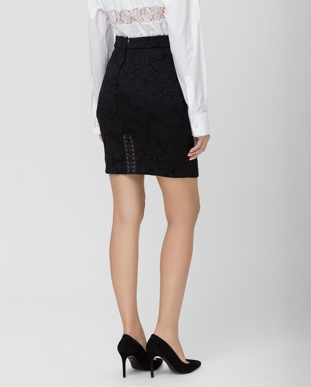 Dolce&Gabbana Черная юбка F4BIHTFJRCP изображение 4