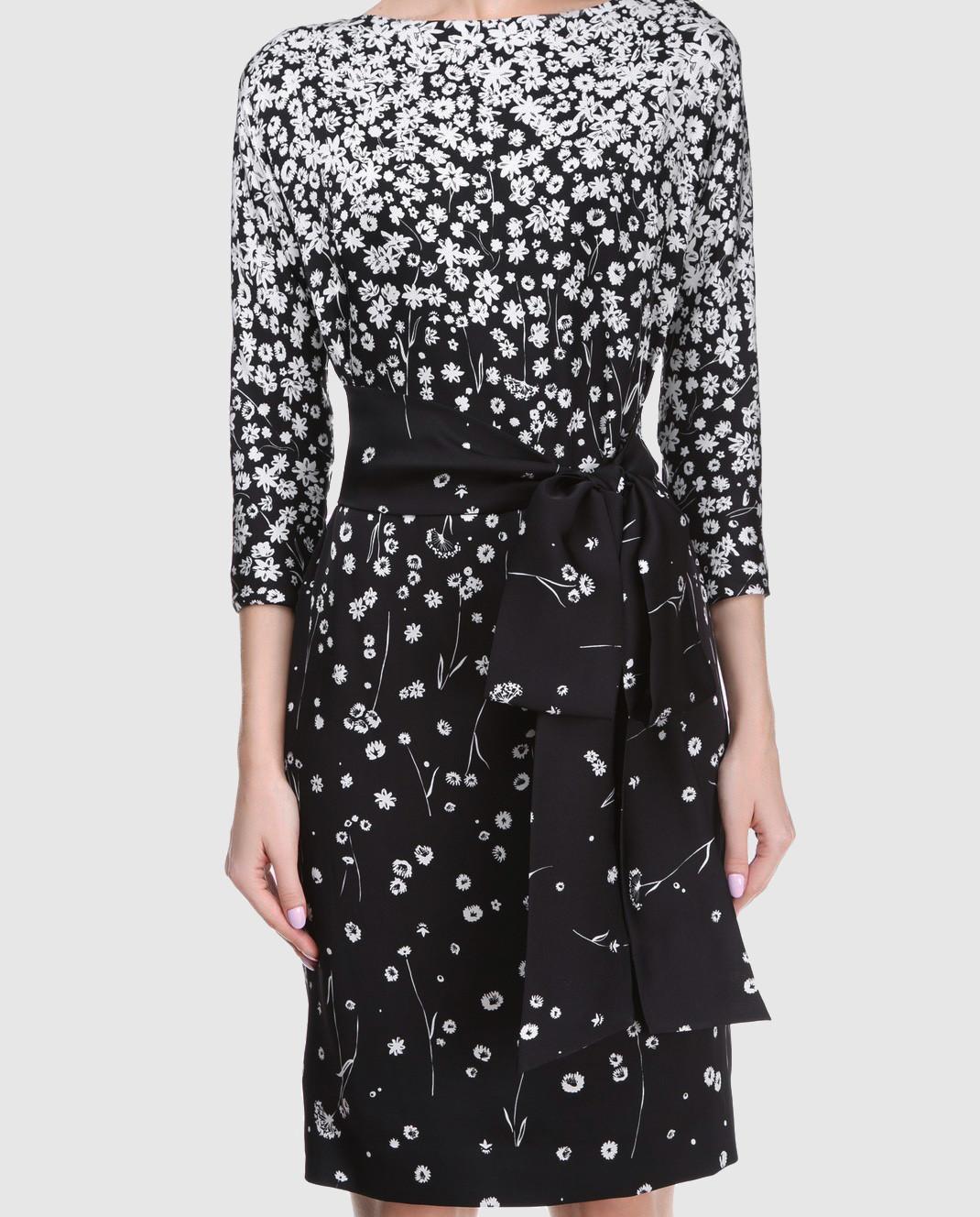 Alexander Terekhov Черное платье из шелка D123 изображение 3
