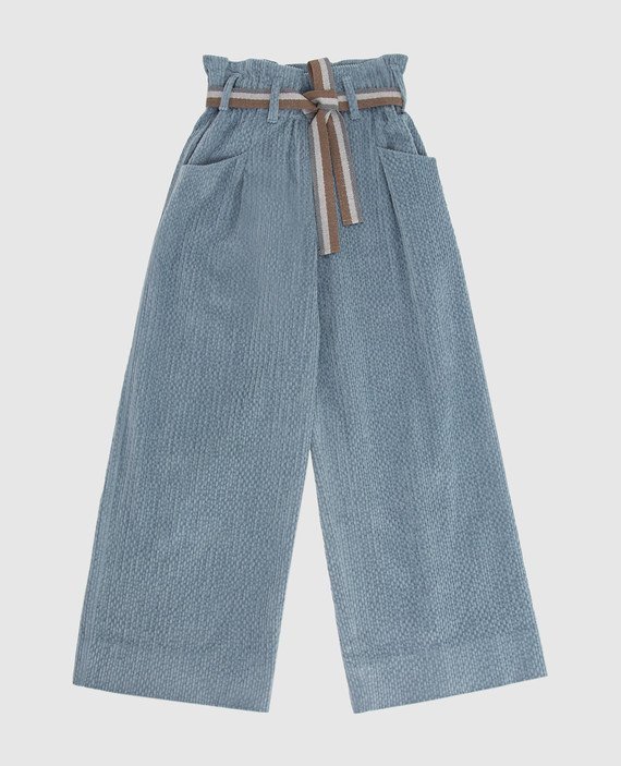 Детские голубые брюки