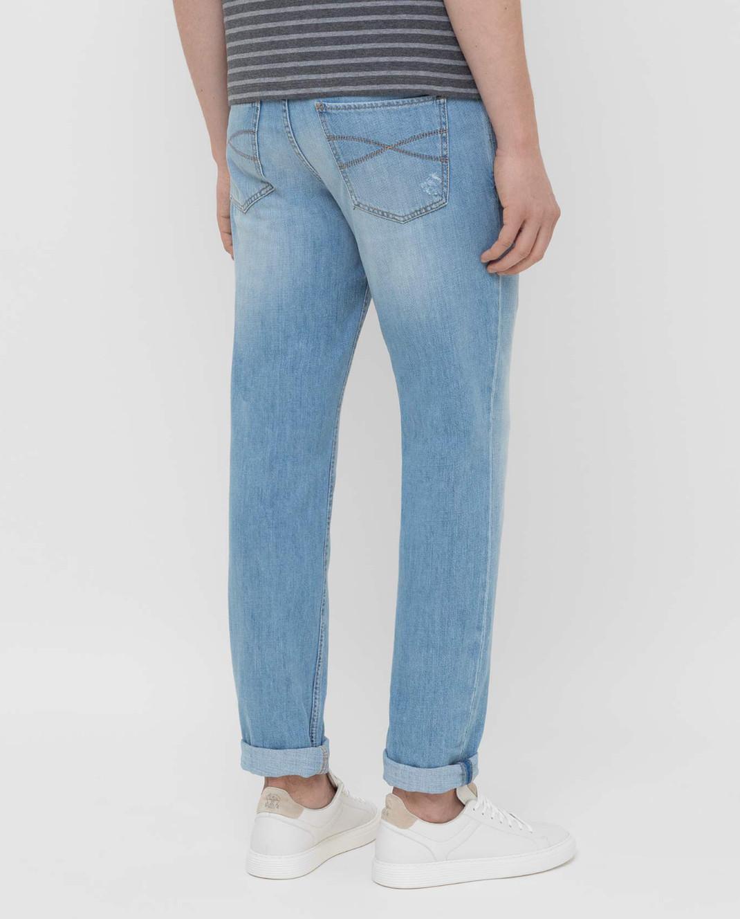 Brunello Cucinelli Голубые джинсы M0Z37D2360 изображение 4
