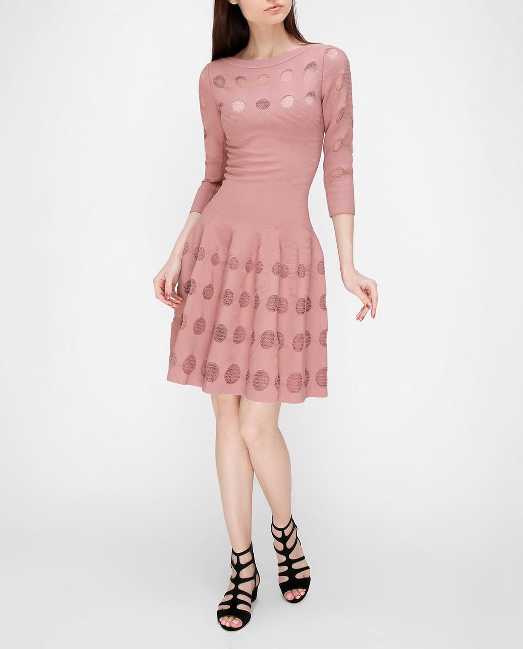 Azzedine Alaia Розовое платье с перфорацией изображение 2