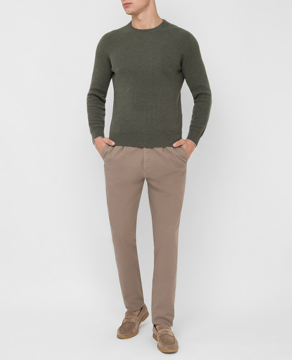 Бежевые брюки hover