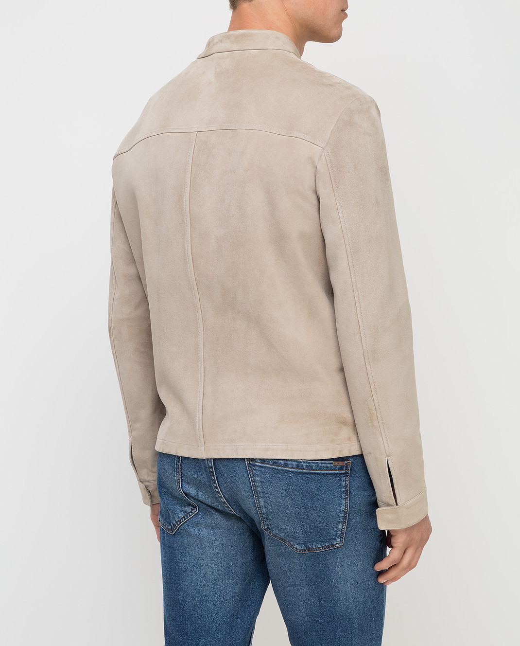 Loro Piana Светло-бежевая замшевая куртка F1FAG1790 изображение 4
