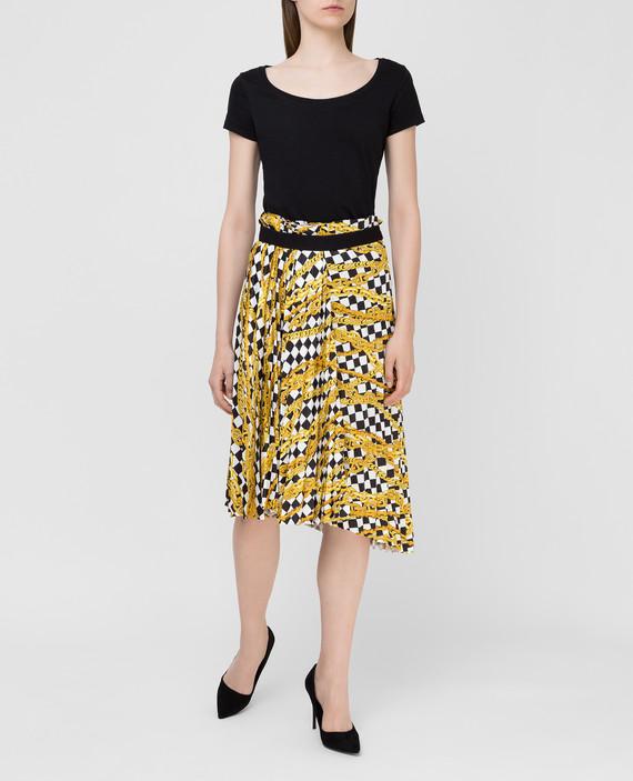 Желтая юбка hover