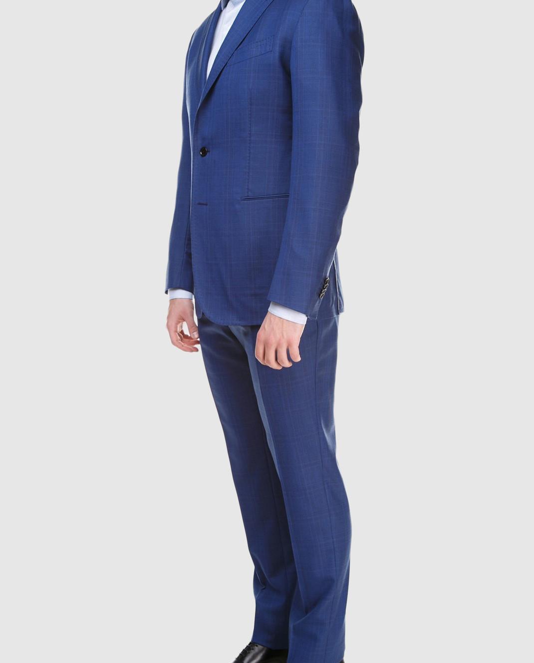 Stile Latino Синий костюм из шерсти AULUCA20A21SWA14 изображение 3
