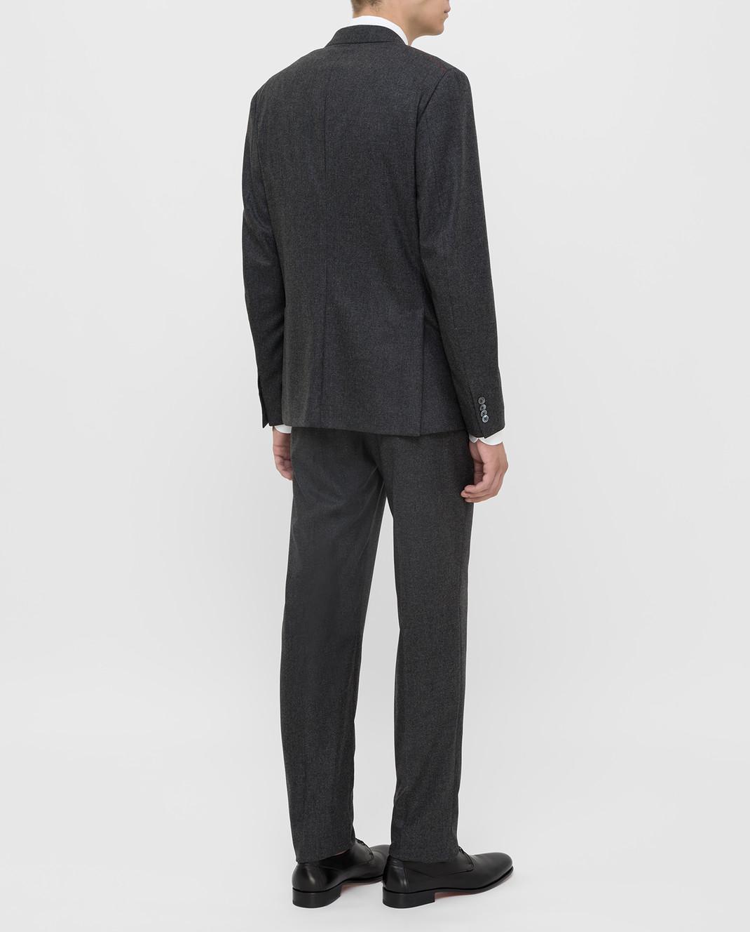 ISAIA Серый костюм из шерсти и кашемира 224ASI89681 изображение 4
