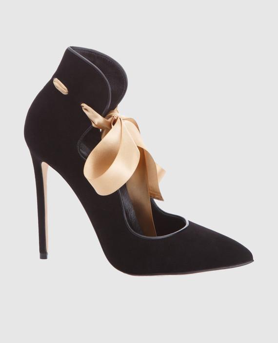Черные замшевые туфли MELISSA