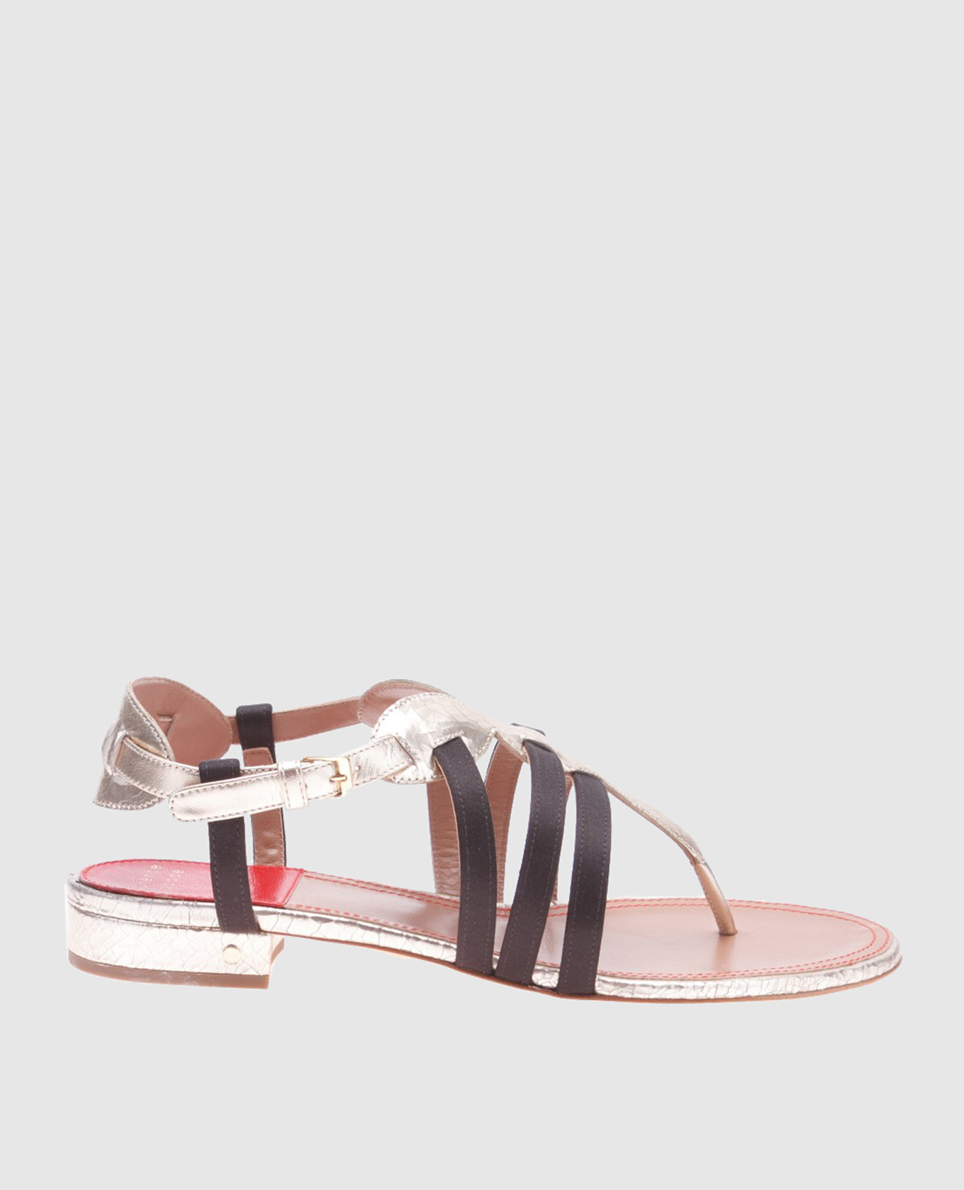 Золотистые кожаные сандалии Renin