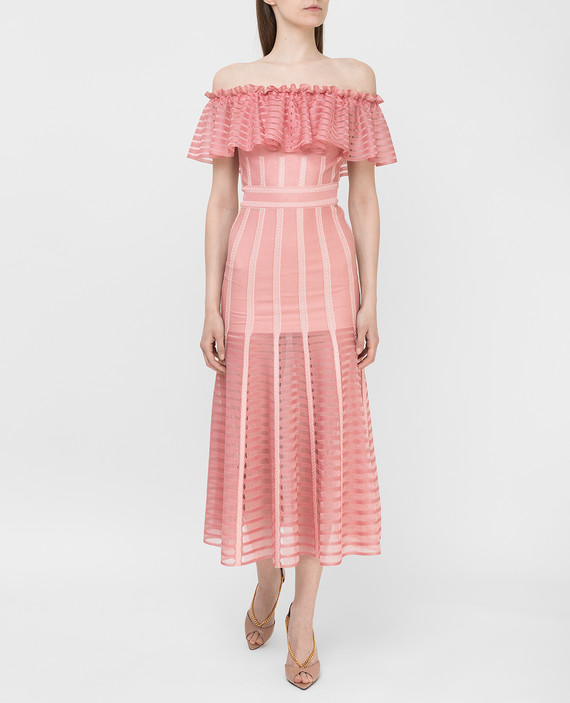 Коралловое платье hover