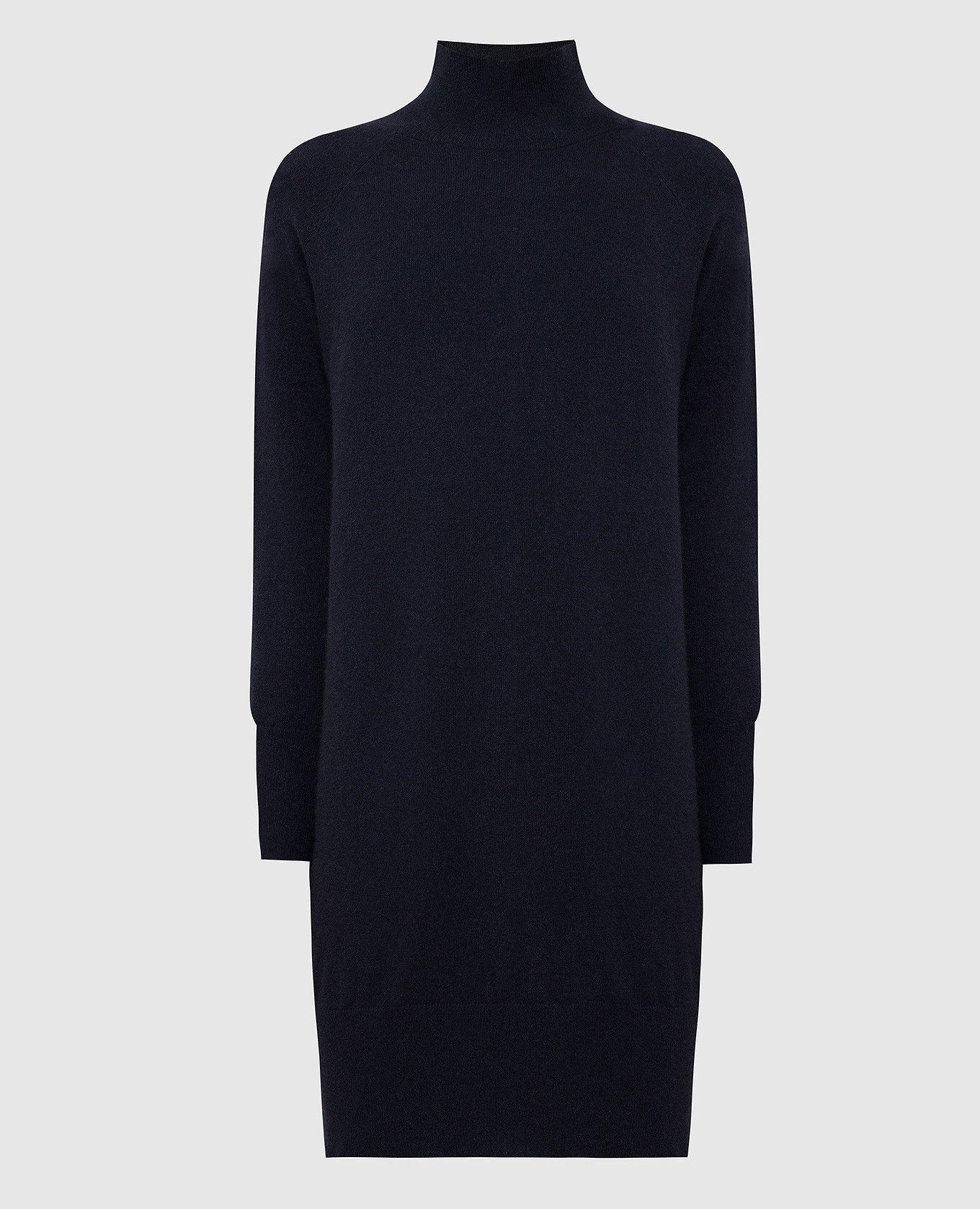 Темно-синее платье из кашемира