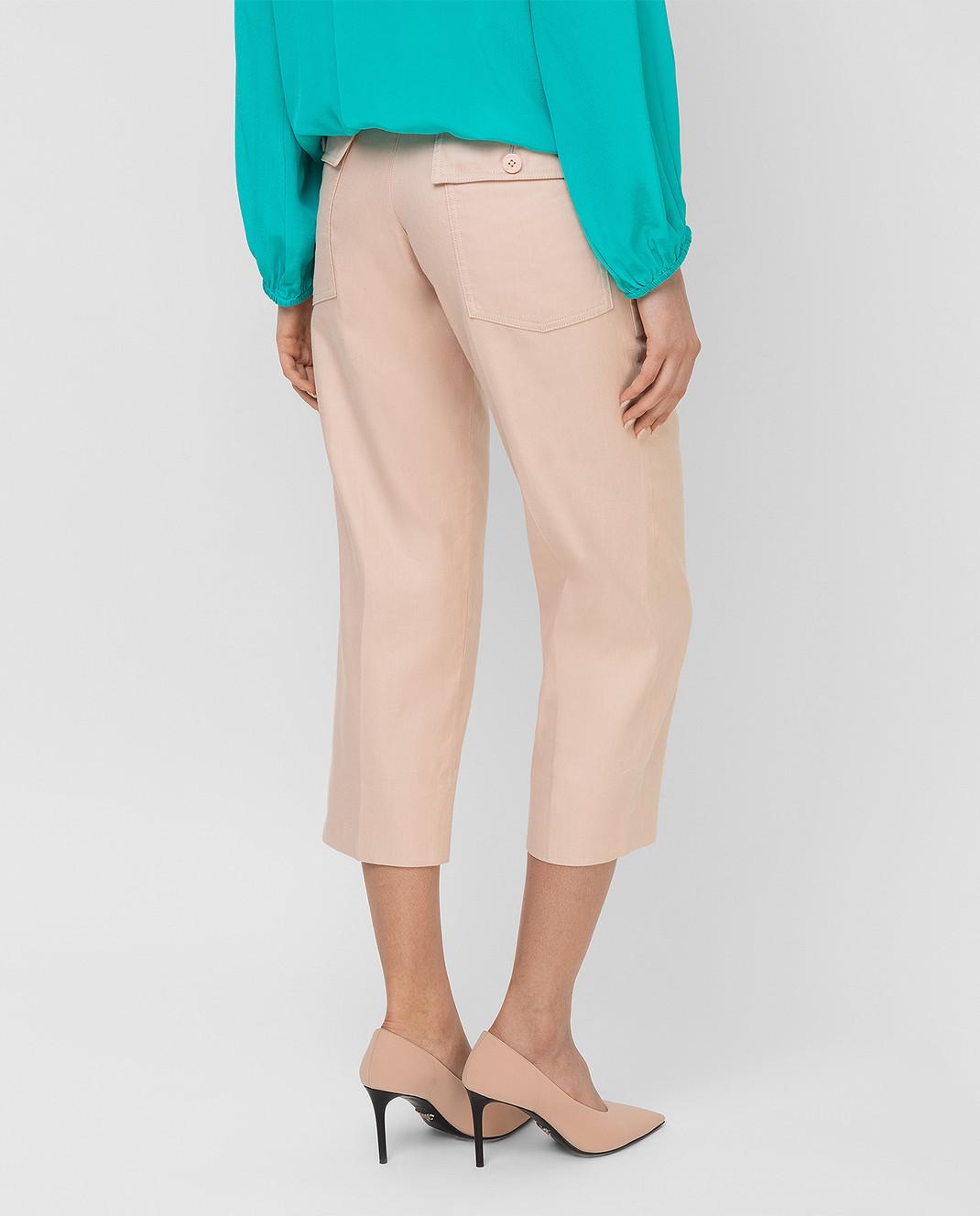Chloe Светло-бежевые брюки 17EPA58 изображение 4