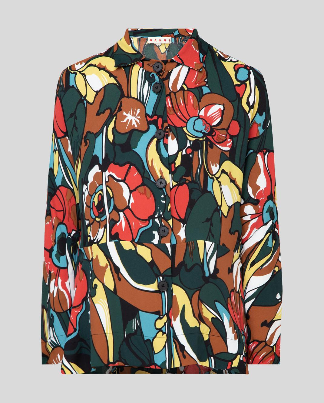 Marni Зеленая блуза CAMAT22A00TV454