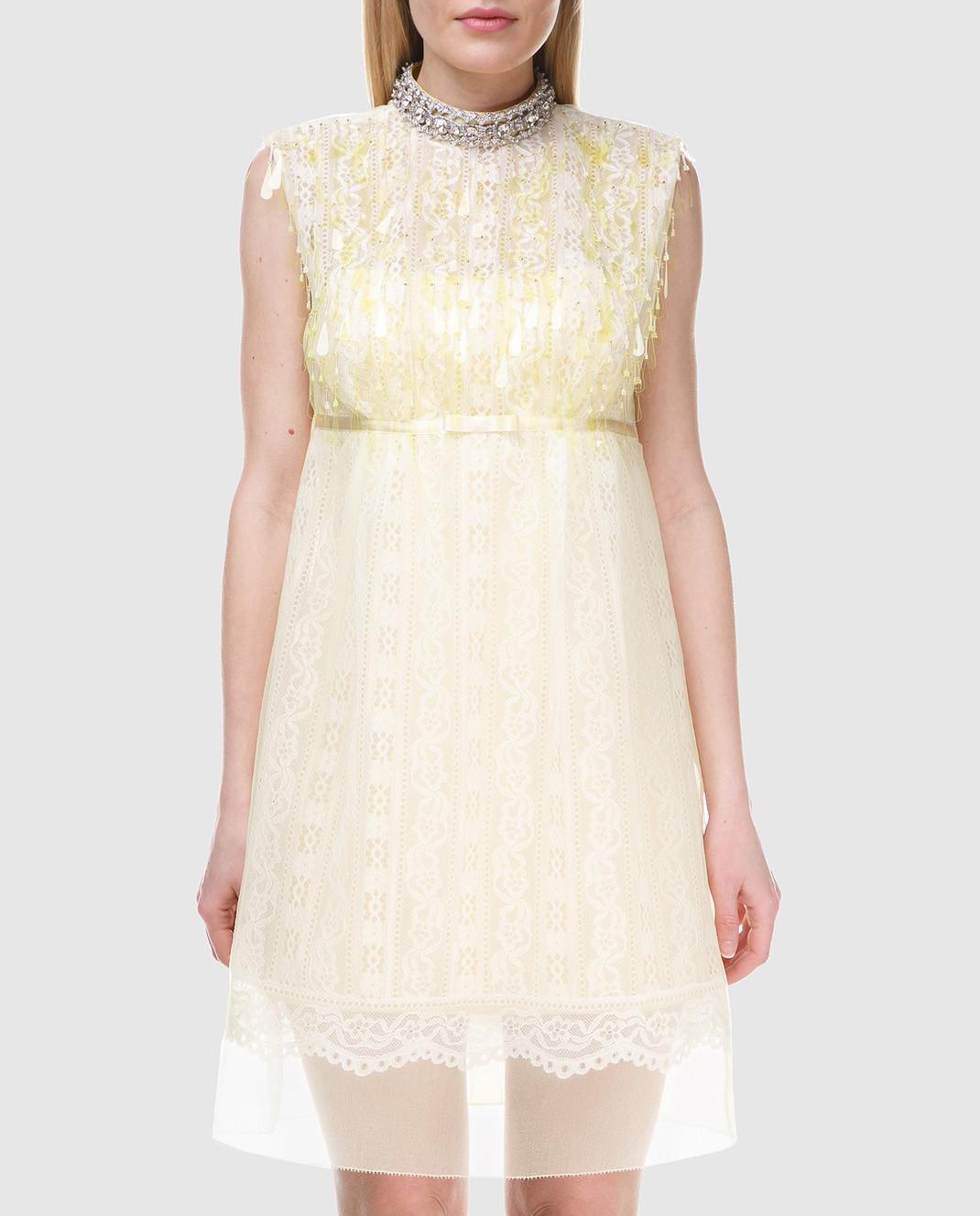 Marc Jacobs Желтое платье с кружевом M4007191 изображение 2