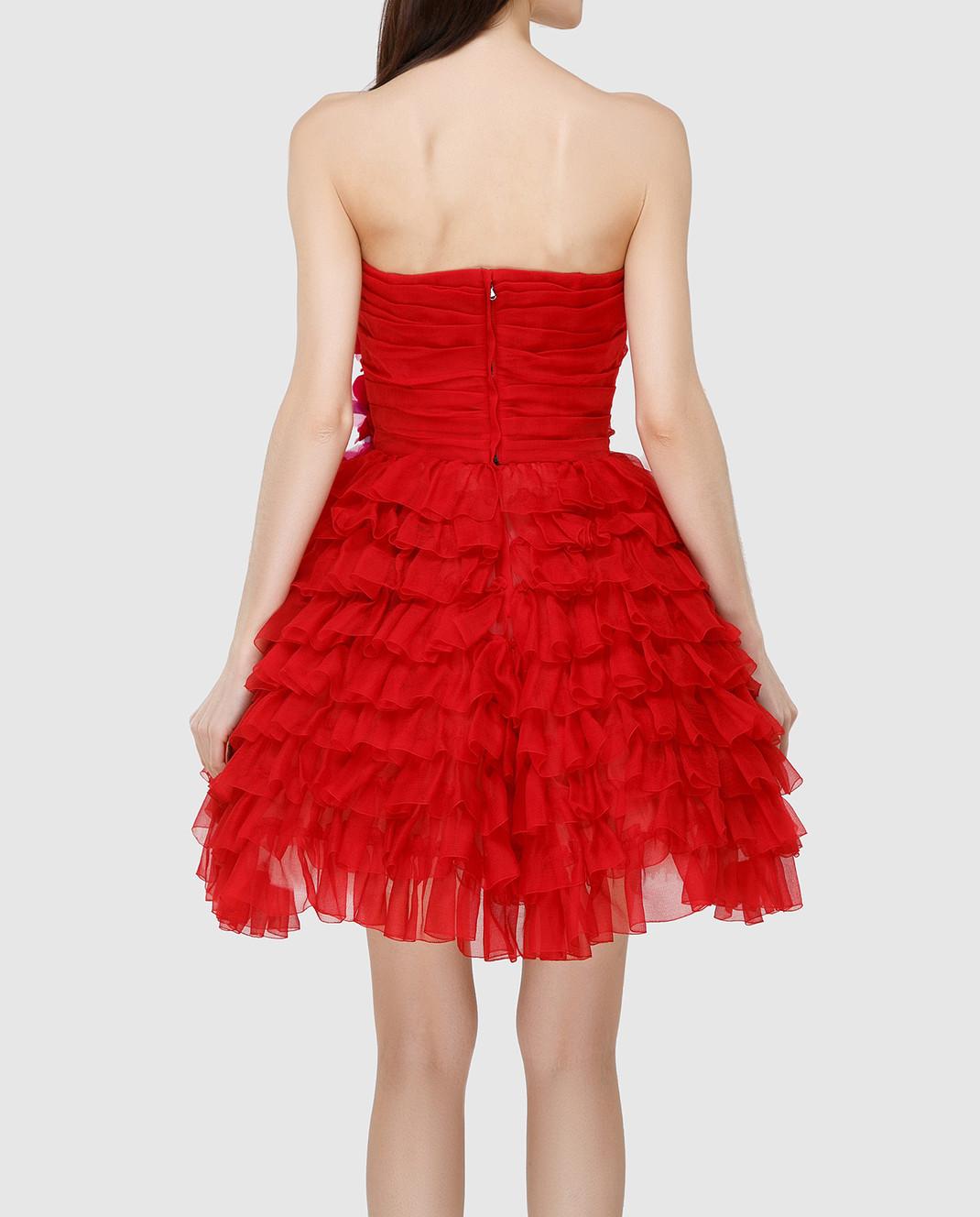 Dolce&Gabbana Красное платье F62R5ZFU1KK изображение 4