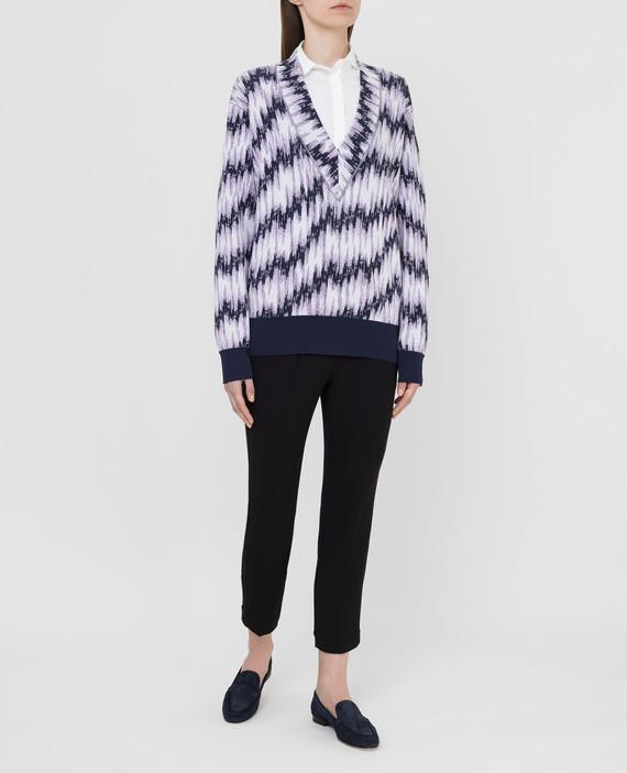 Темно-синий пуловер hover