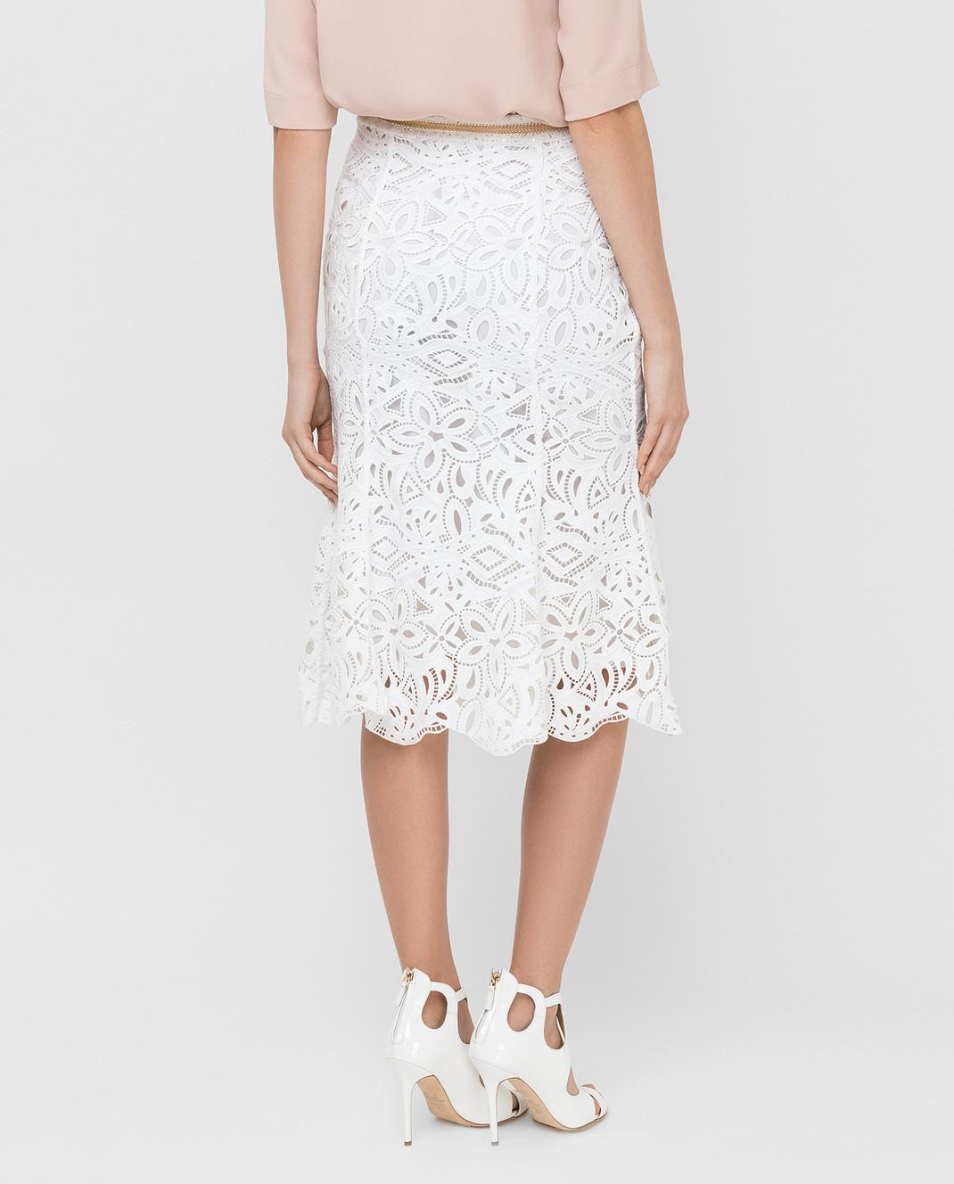 Ermanno Scervino Белая юбка D285O709HEM изображение 4