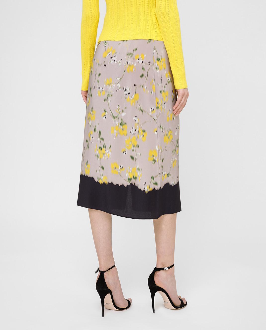 Altuzarra Серая юбка из шелка изображение 4