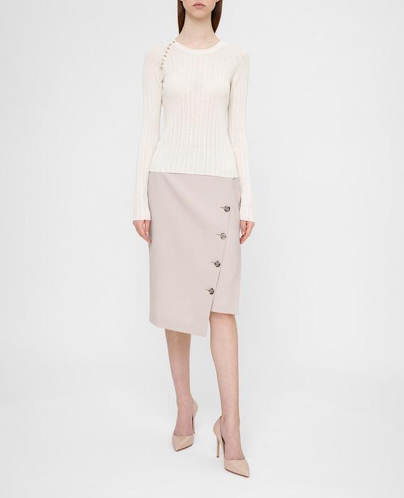 Светло-бежевая юбка из шерсти hover