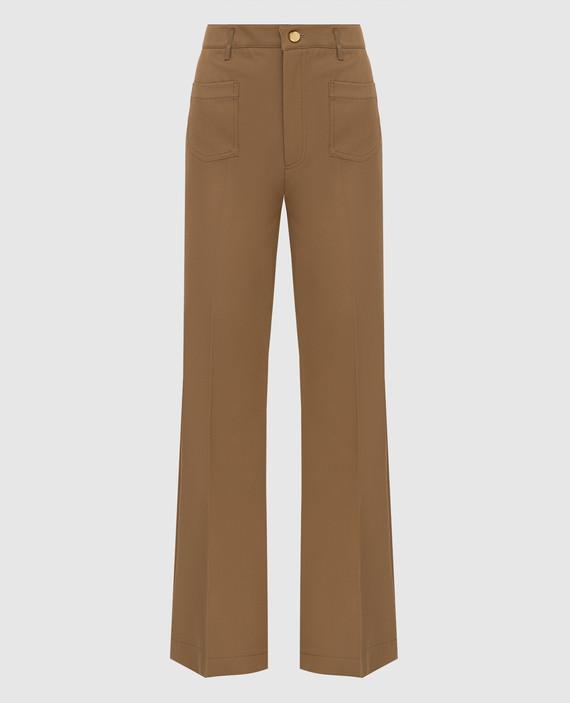 Бежевые брюки
