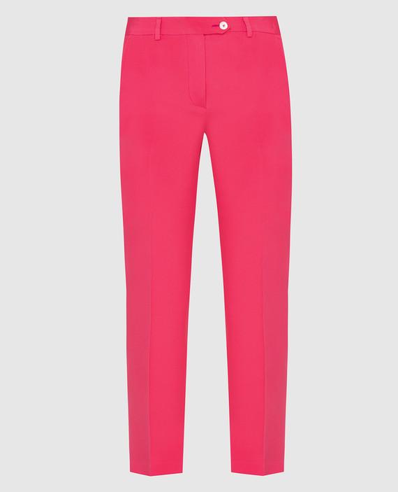 Коралловые брюки из шелка