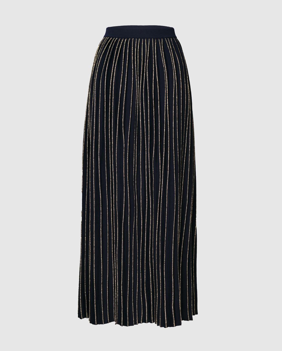 Gucci Синяя юбка-плиссе 490353