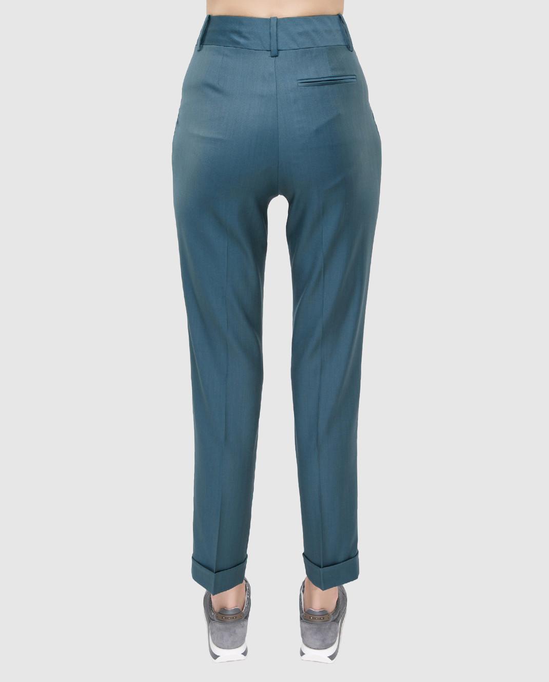 Maison Ullens Светло-синие брюки из шерсти изображение 4