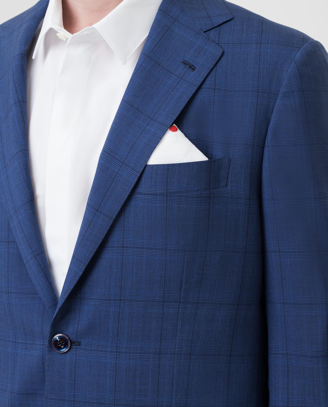 Kiton Темно-синий костюм из шерсти изображение 5
