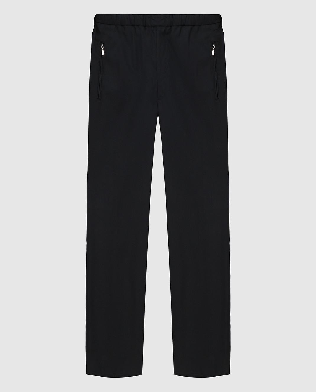 Castello d'Oro Черные брюки из шерсти изображение 1