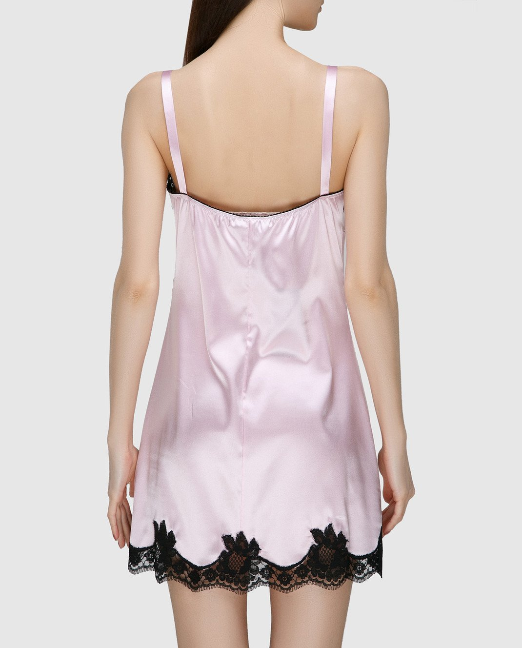 Dolce&Gabbana Розовая комбинация из шелка O6A00TFUADG изображение 4