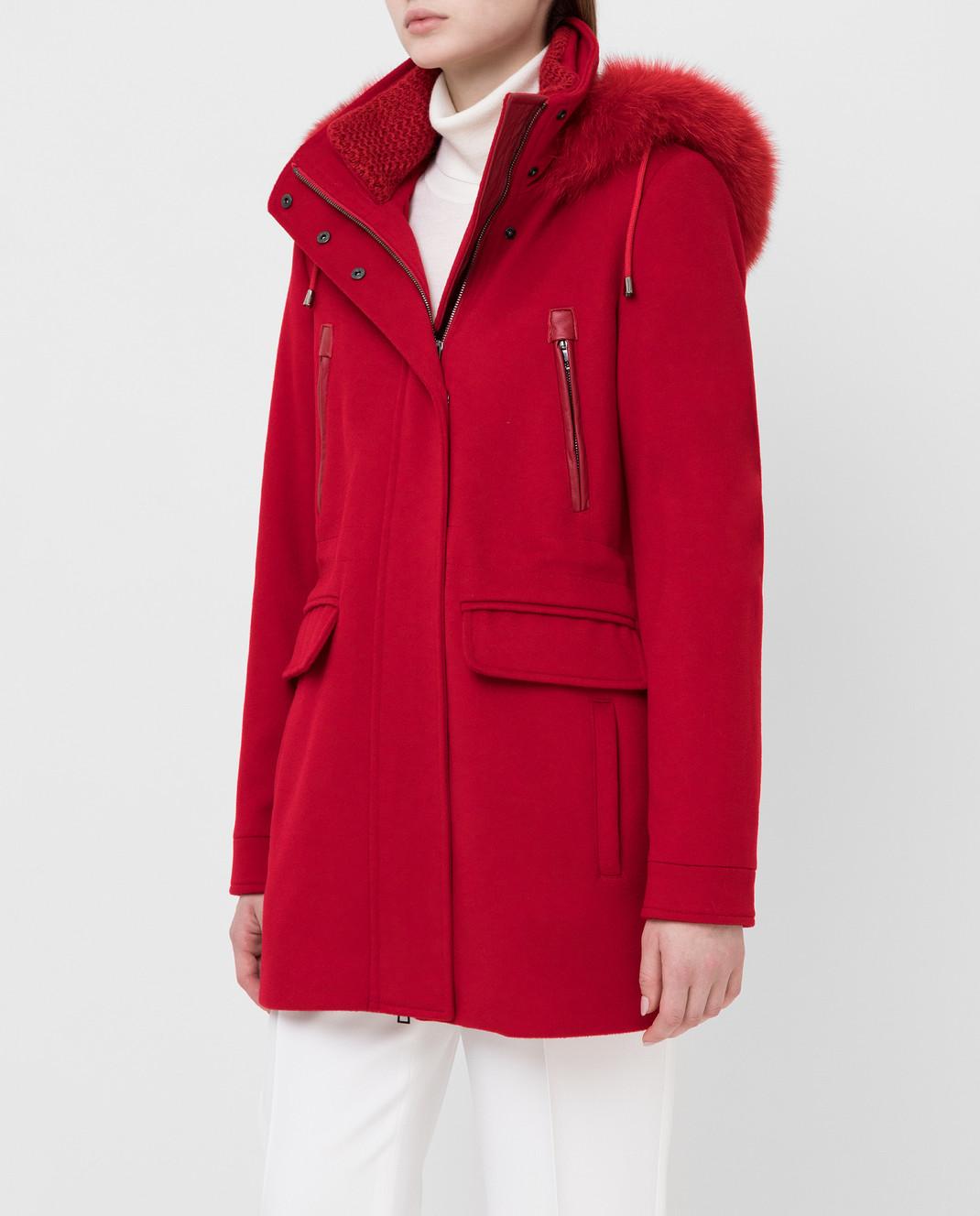Heresis Красное пальто из шерсти изображение 3