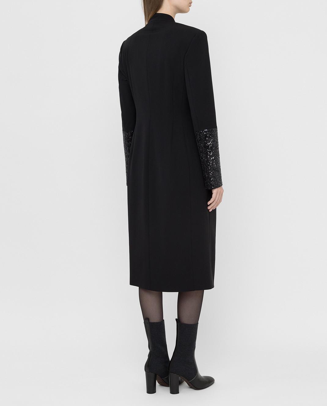Brunello Cucinelli Черное платье из шерсти изображение 4