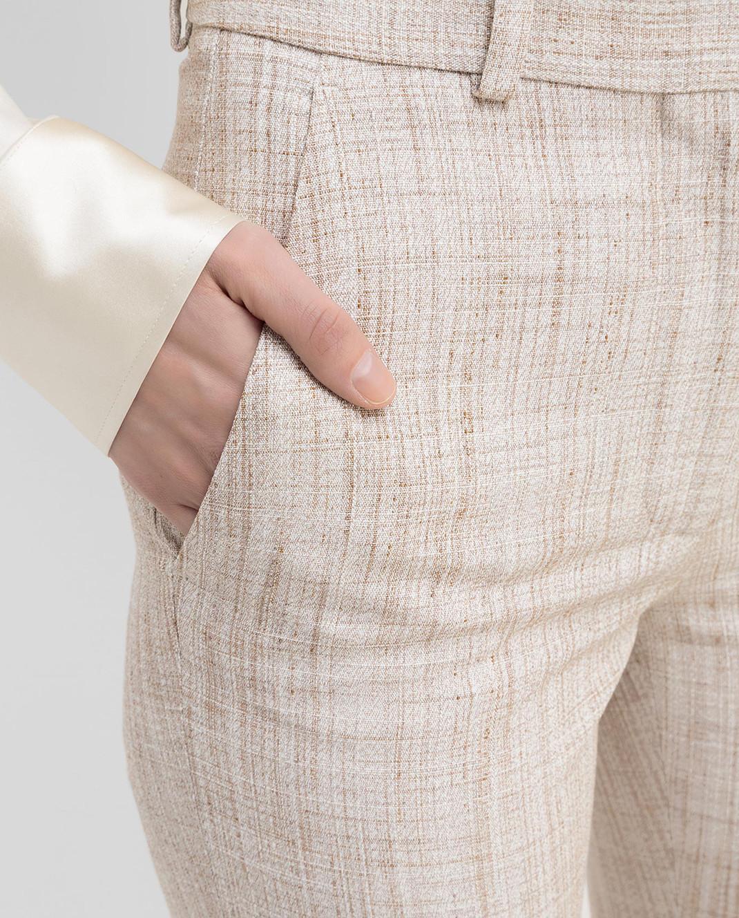 Victoria Beckham Бежевые брюки TRSLM2402 изображение 5