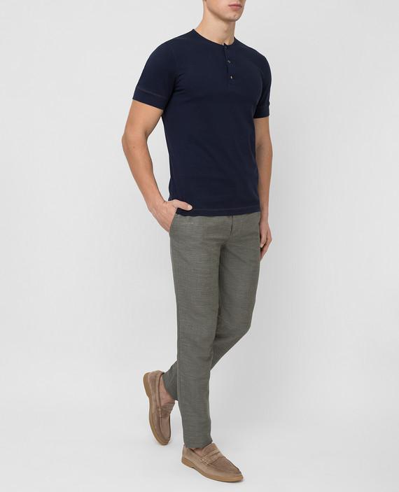 Серые брюки из льна и шерсти hover