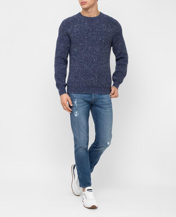 Темно-синий свитер hover