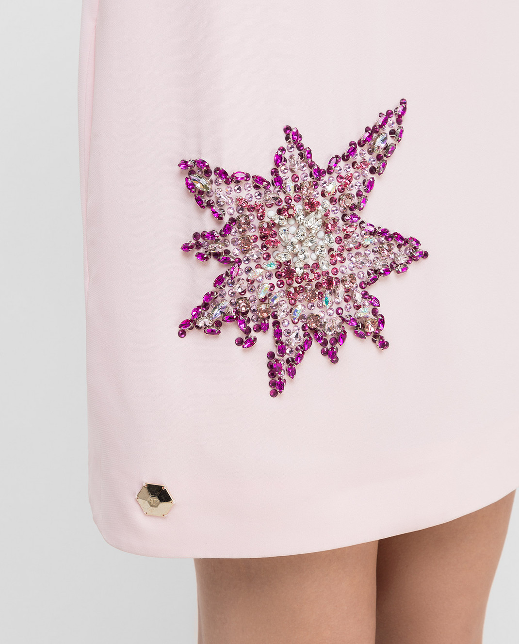 Philipp Plein Розовое платье с кристаллами CW440354 изображение 5