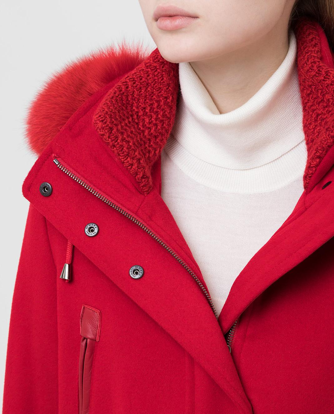 Heresis Красное пальто из шерсти P1080VO изображение 5