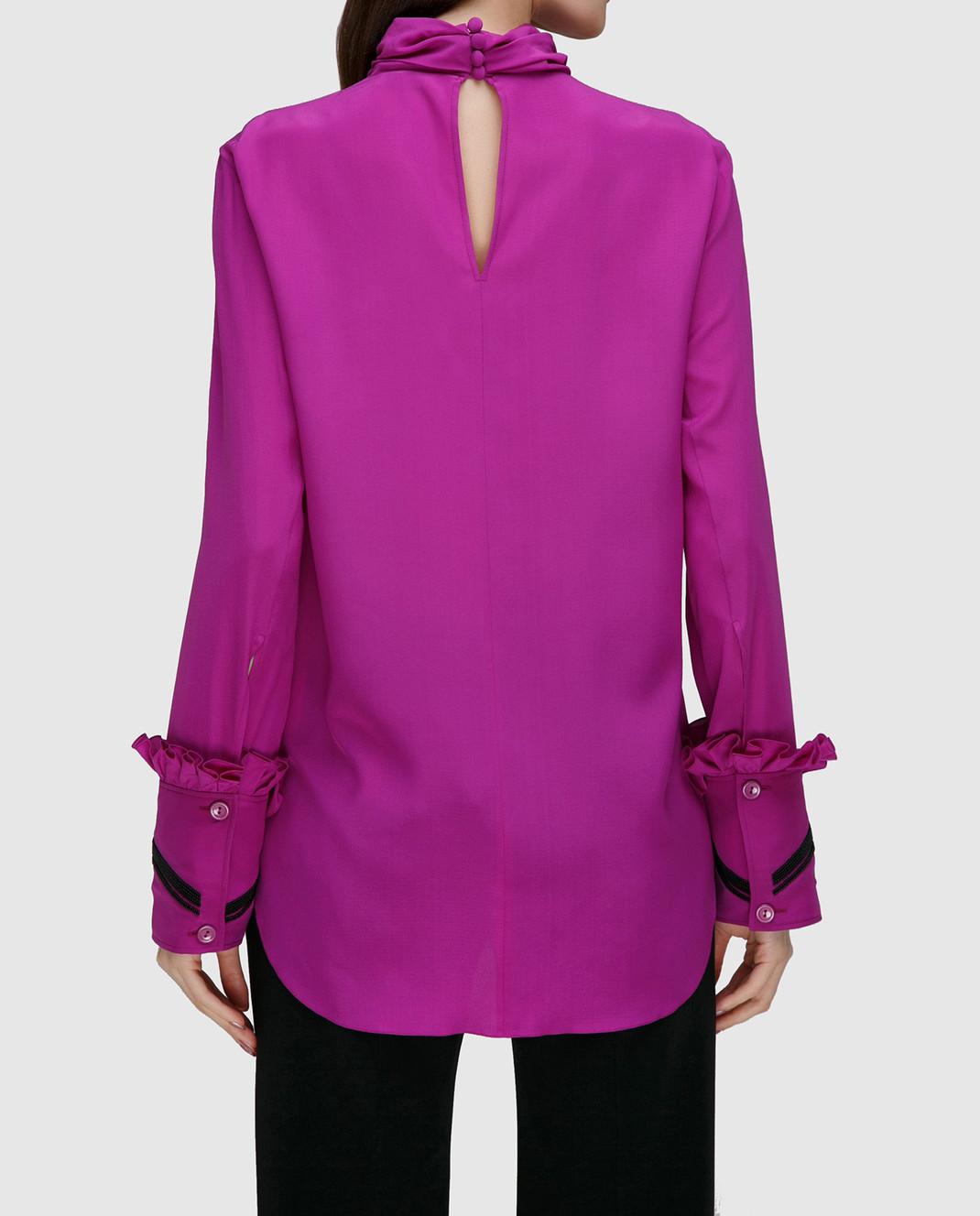 NINA RICCI Розовая блуза из шелка 17PCTO016SE0801 изображение 4