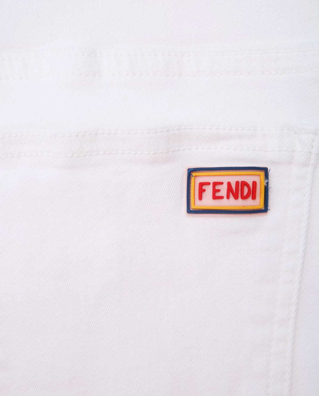 Fendi Детские белые джинсы JFF0901012 изображение 3