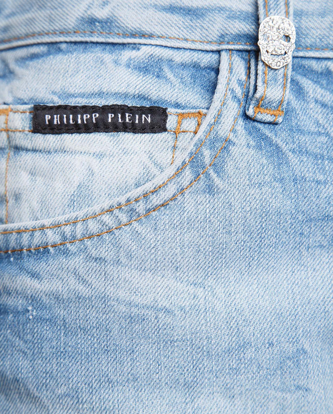Philipp Plein Голубые джинсы изображение 5